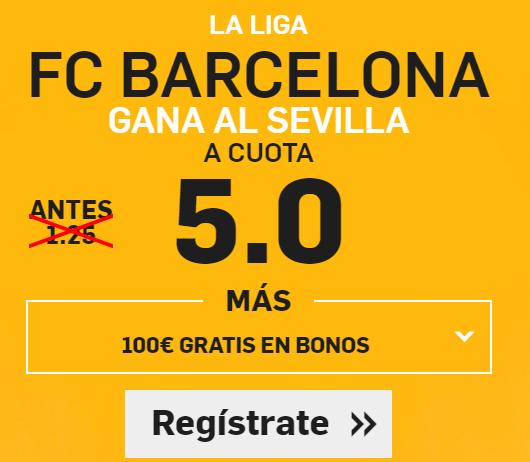 Supercuota Betfair Barcelona - Sevilla