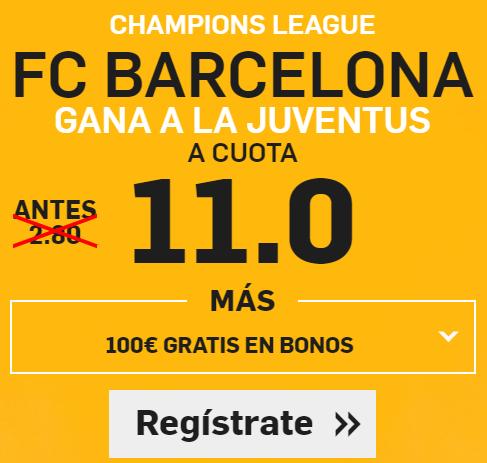 Supercuota Betfair Champions Barcelona