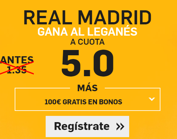 Supercuota Betfair Real Madrid - Leganés