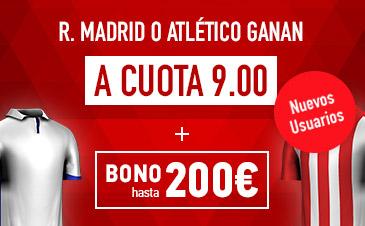 Supercuota Sportium R.Madrid o Atletico ganan a cuota 9.00