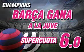 Wanabet Supercuota Champions Barcelona gana a la Juve