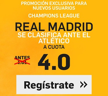 Supercuota Betfair R Madrid Atletico 4