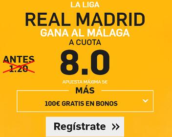 Supercuota Betfair Real Madrid gana Malaga cuota 8