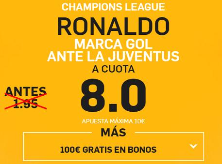 Supercuota Betfair Ronaldo marca gol ante la juventus