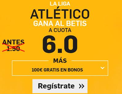 Supercuota Betfair la liga Atletico Betis