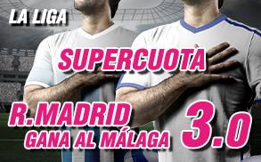 Supercuota Wanabet R Madrid gana al Malaga