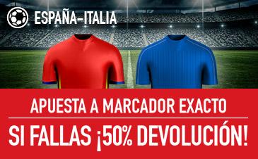 Sportium España - Italia 50% devolución