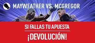 Sportium Mayweather vs McGregor si fallas devolución