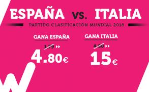 Supercuota Wanabet España vs Italia