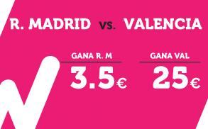 Supercuota Wanabet la Liga R Madrid Valencia