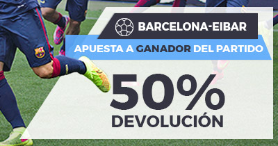 Paston La Liga Barcelona - Eibar apuesta ganador 50% devolución