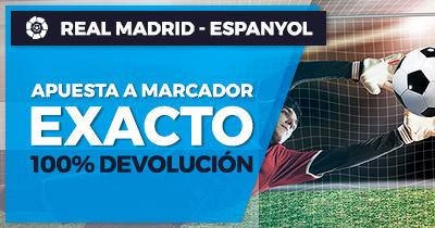 Paston Real Madrid - Espanyol 100% devolución