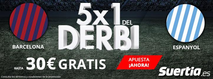 Suertia la liga Barcelona - Espanyol 30€ gratis