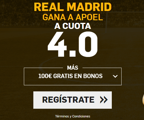 Supercuota Betfair Real Madrid vs Apoel