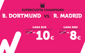 Supercuota Wanabet Champions - B. Dortmund vs Real Madrid