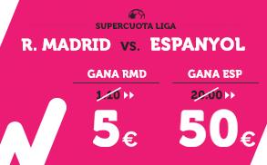 Supercuota Wanabet la Liga- R. Madrid vs Espanyol