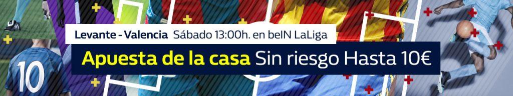 WilliamHill Levante - Valencia Apuesta sin riesgo hasta 10€
