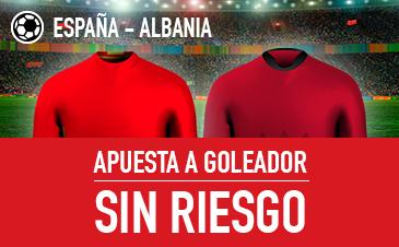 Sportium España Albania apuesta a goleador y si fallas devolucion!