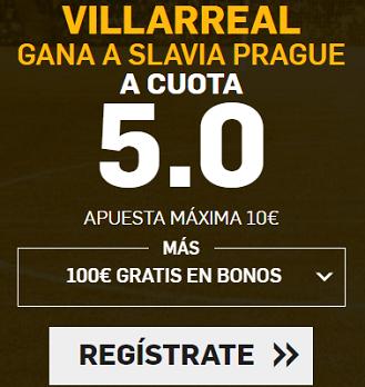 Supercuota Betfair Champions - Villarreal gana a Slavia prague