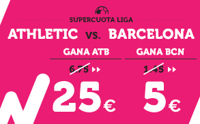 Supercuota Betfair la liga - Athletic vs Barcelona