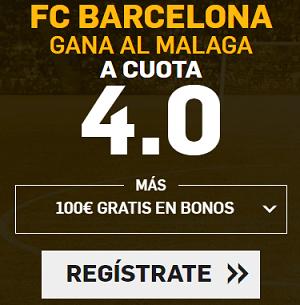 Supercuota Betfair la liga - Barcelona gana al Malaga