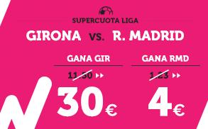 Supercuota Wanabet la liga - R. Madrid vs Girona