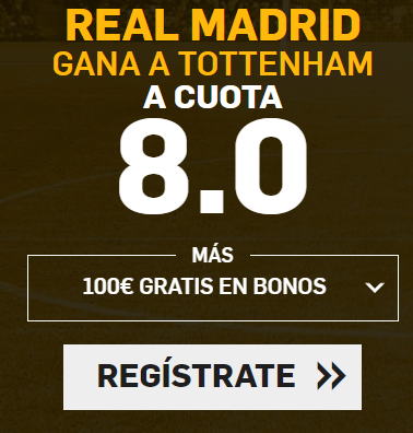 supercuota Betfair Champions League R. Madrid gana Tottenham cuota 8.0