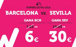 Supercuota Wanabet la liga Barcelona vs Sevilla