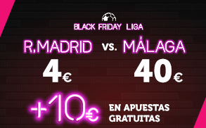 Supercuota Wanabet la liga Real MAdrid - Malaga