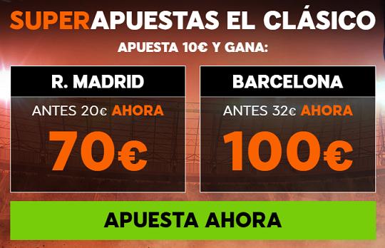 Supercuota 888sport el Clásico R. Madrid - Barcelona