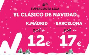 Supercuota Wanabet Clásico R. Madrid - Barcelona