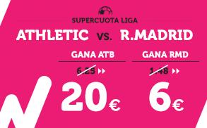 Supercuota Wanabet la Liga Athletic - R. Madrid