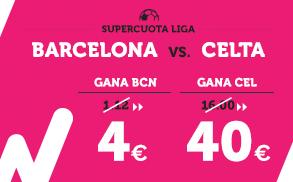 Supercuota Wanabet la Liga Barcelona - Celta