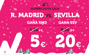 Supercuota Wanabet la Liga Real Madrid - Sevilla