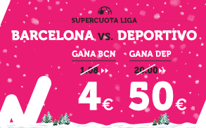 Supercuota Wanabet la liga Barcelona - Deportivo