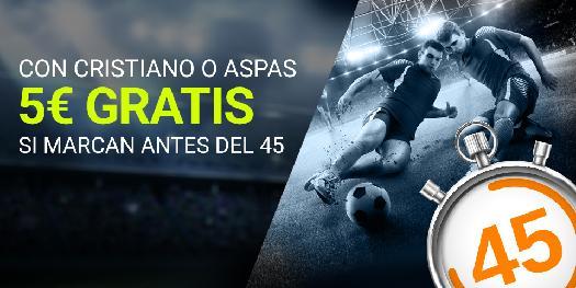 Luckia la liga Gol de CR7 o Aspas 5€ gratis