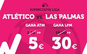 Supercuota Wanabet la liga Atlético - Las Palmas