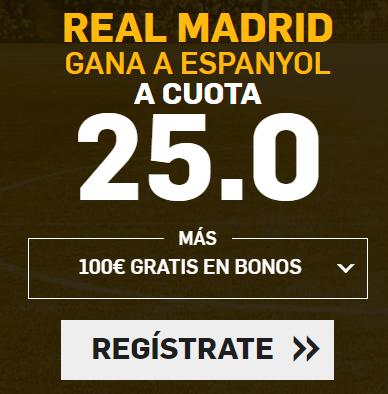 Supercuota Betfiar la Liga Real Madrid - Espanyol