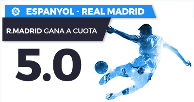 Supercuota Paston la Liga Espanyol - Real Madrid