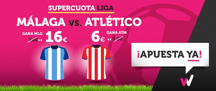 Supercuota Wanabet Liga - Malaga vs Atletico