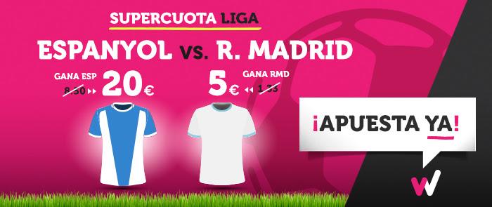 Supercuota Wanabet la Liga Espanyol - R. Madrid