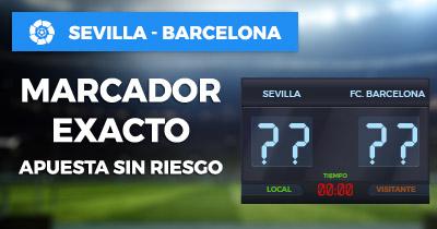 Bonos de Apuestas Paston la Liga Sevilla - Barcelona Marcador Exacto