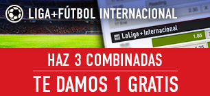 Bonos de Apuestas Sportium Liga Haz 3 combinadas te damos 1 gratis