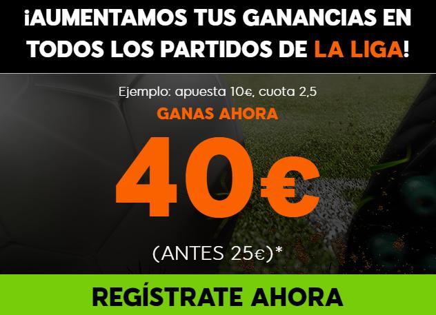 Bonos de Apuestas Supercuota 888sport la Liga Jornada 29, 100% aumento de Beneficios