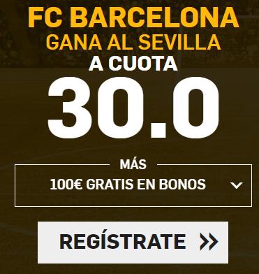 bonos de Apuestas Supercuota Betfair la Liga FC Barcelona gana Sevilla