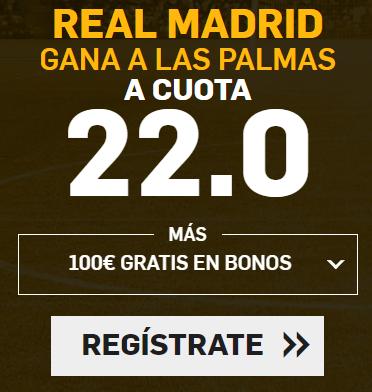 Bonos de apuestas Supercuota Betfair la Liga Real Madrid vs Las Palmas