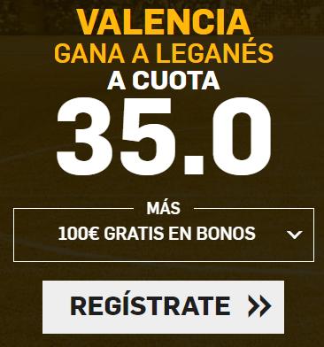 Bonos de Apuestas Supercuota Betfair la Liga Valencia gana Leganes