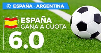 bonos de apuestasSupercuota Paston Amistoso Internacional: España vs Argentina