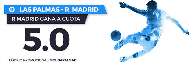 Bonos de Apuestas Supercuota Paston la Liga: Las Palmas - R. Madrid