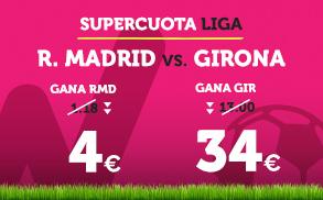 Bonos de Apuestas Supercuota Wanabet la Liga: R. Madrid - Girona